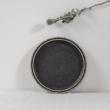kerámia tányér fekete mázzal Kontor Enikő