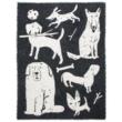Állatmintás gyapjú takaró