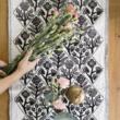 asztali futó, virágos