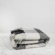 Gyapjú takaró, vintage kockás