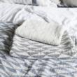 Mintás lenvászon ágytakaró