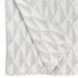 Natúr-fehér, mintás lenvászon takaró