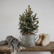 régi mosófazék karácsonyfa tartónak