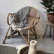 kagyló rattan régi fotel