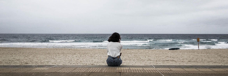 Fru egy Asztráliai tengerparton.