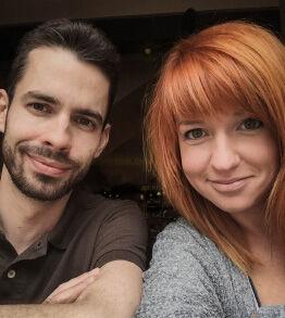 Évi és Zoli közös képe.