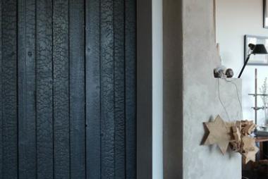 slow design - égett fa felület