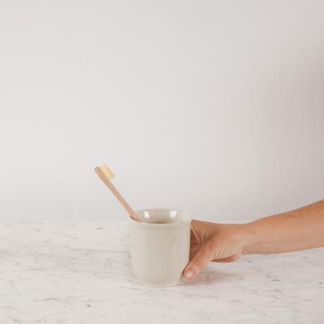 kerámia fogkefetartó pohár