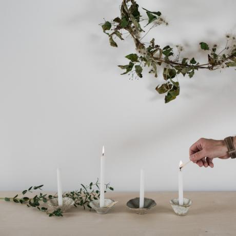 kerámia gyertyatartó virág forma