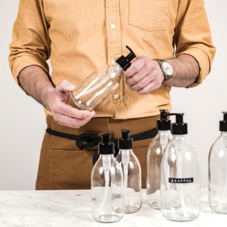 pumpás üveg