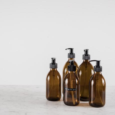 Barna üveg, pumpás adagolóval