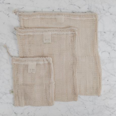 hálós textil zsák szett