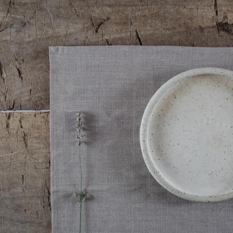 lenvászon textil tányéralátét
