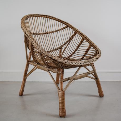 régi kagyló rattan fotel