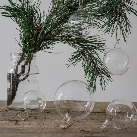 Üveggömb 6cm-es - 4db