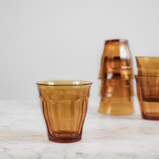 Picardie pohár, borostyán, 6db