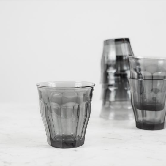 Picardie pohár, füstszínű, 6db