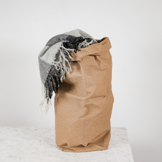 Mosható papírzsák, XXL, világosbarna