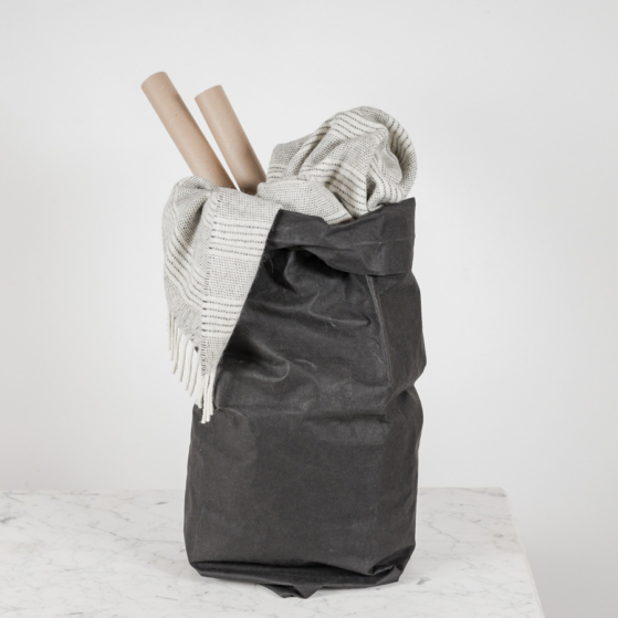 Mosható papírzsák, XXL, fekete