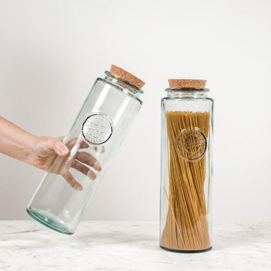 Spagetti tároló üveg, parafa tetővel