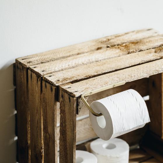 WC papír tartó, sárgaréz