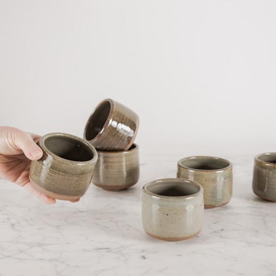 Kerámia csésze, fatüzes