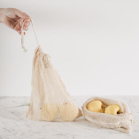 Textil zsák, hálós