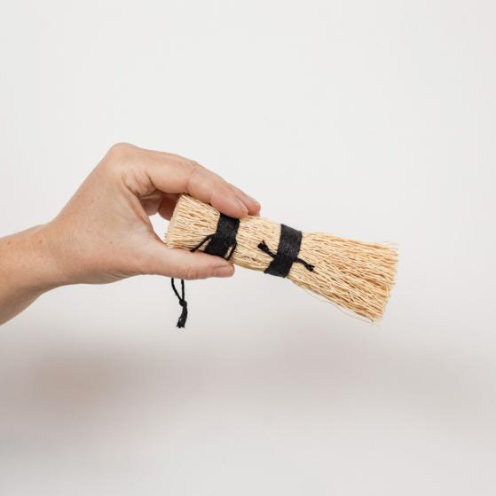Wok és tepsisúroló, rizsgyökérből