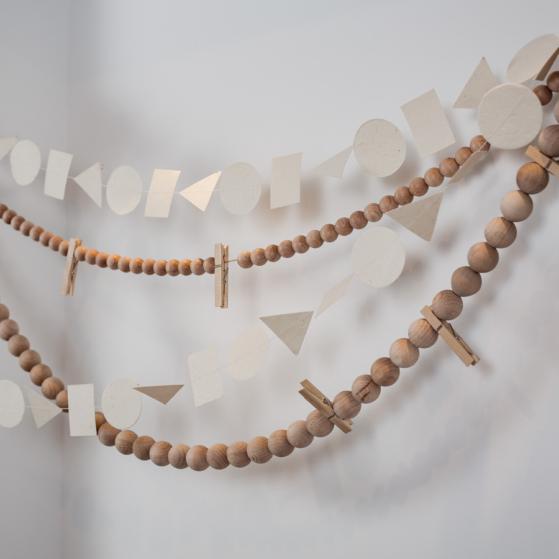 Kézzel készült papír füzér - 5méter