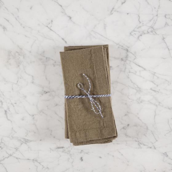 Lenvászon textilszalvéta, 2db, olive