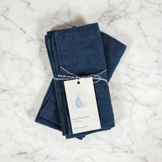 Lenvászon textilszalvéta