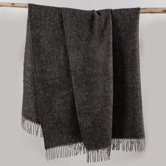 Gyapjú takaró, szürke-fekete