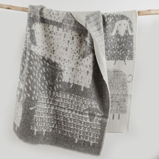 Gyapjú takaró, birkás