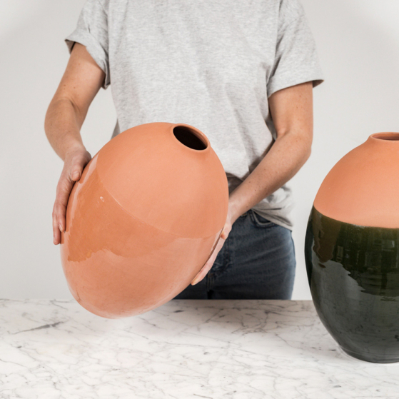 váza fazekas agyagból