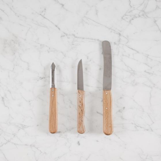 fa nyelű konyhai kés