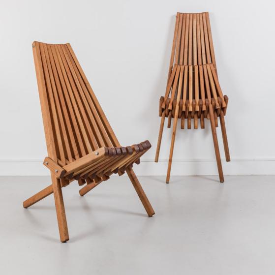 Mid-century szék, panamericana modell