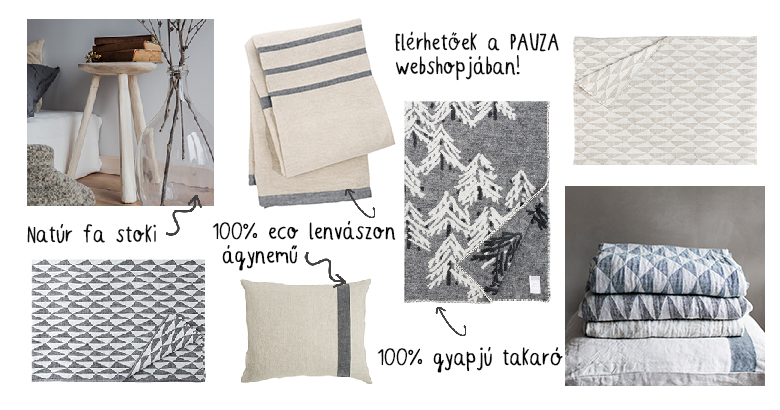 lakástextilek a PAUZA kínálatában