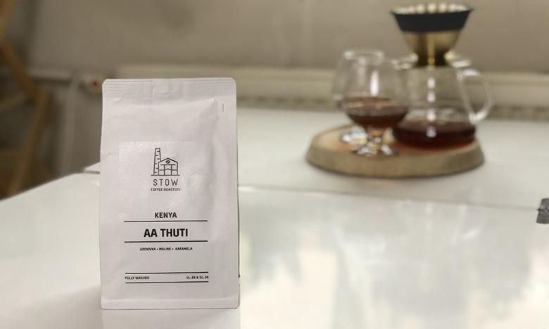 Egy zacsó specialty kávé.