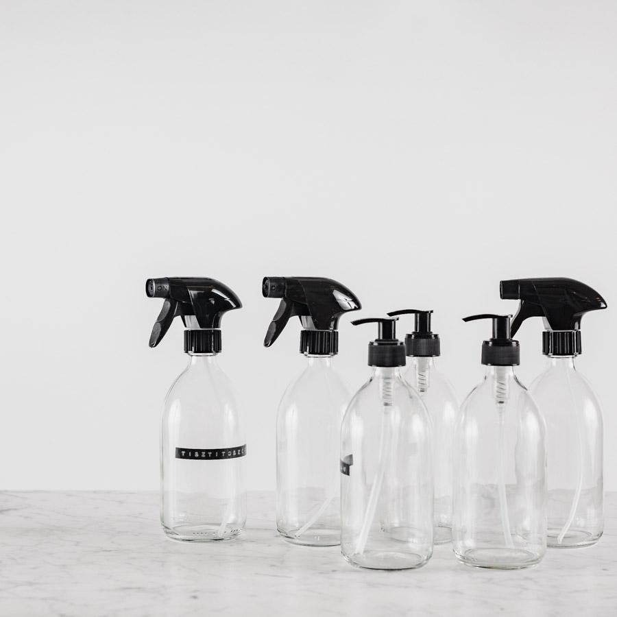 átlátszó üveg tisztítószereknek