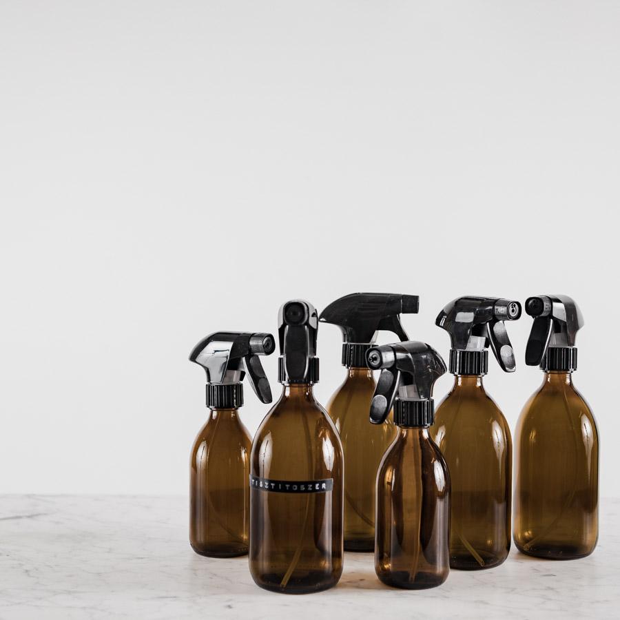 barna üveg tisztíószereknek