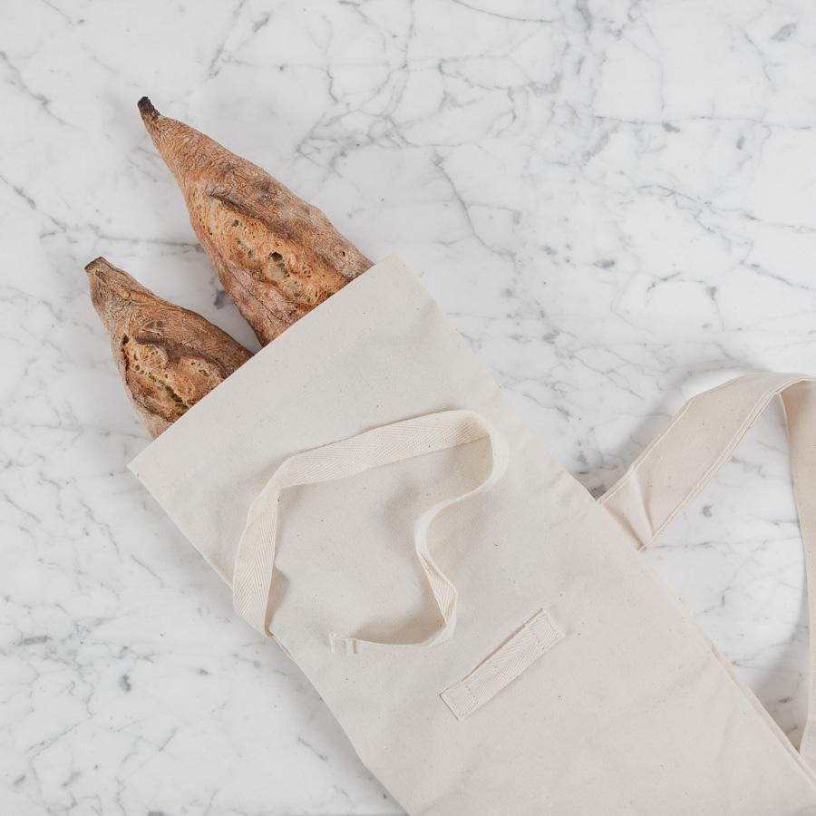 textil zsák baguette tárolásához